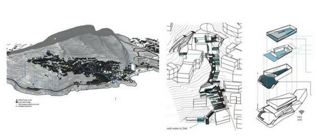 Os desenhos de Pedro para o projeto que desenvolveu em Harvard (Foto: Arquivo pessoal)