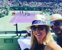 Vitor Belfort reaparece com esposa na plateia de jogo de Rafael Nadal
