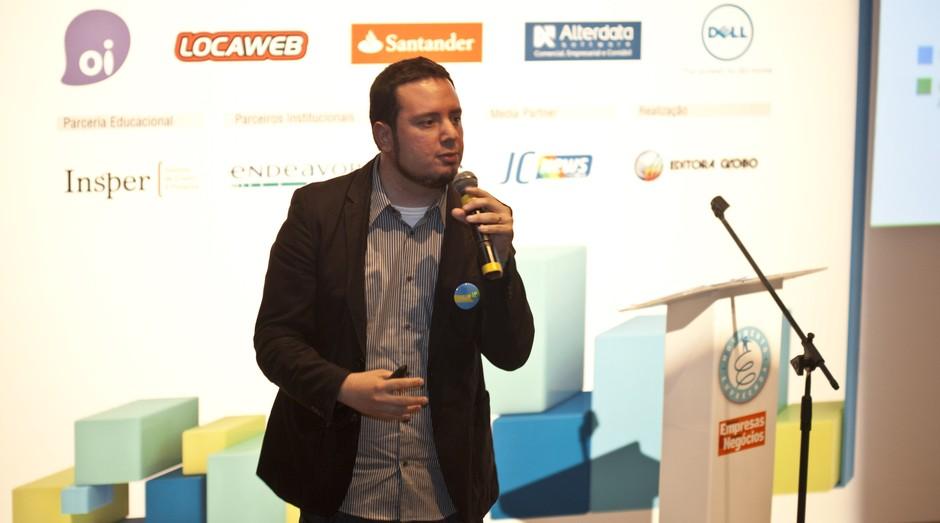 Vítor Andrade, gestor de operações do projeto Start-Up Brasil, explica como vai funcionar a nova fase da iniciativa do governo federal para startups (Foto: Eduardo Siqueira)