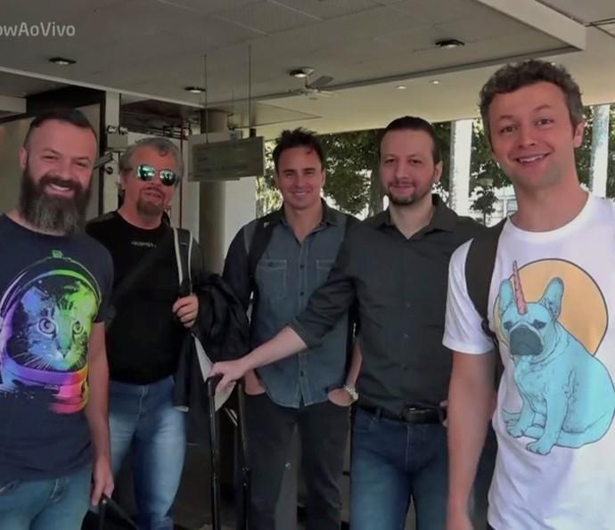 Lucas Lima mostrou um pouca da rotina da Família Lima (Foto: TV Globo)