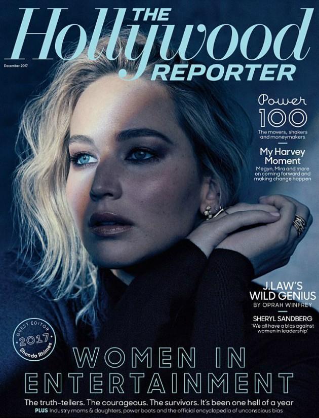 Jennifer Lawrence na cara da The Hollywood Reporter (Foto: Reprodução)