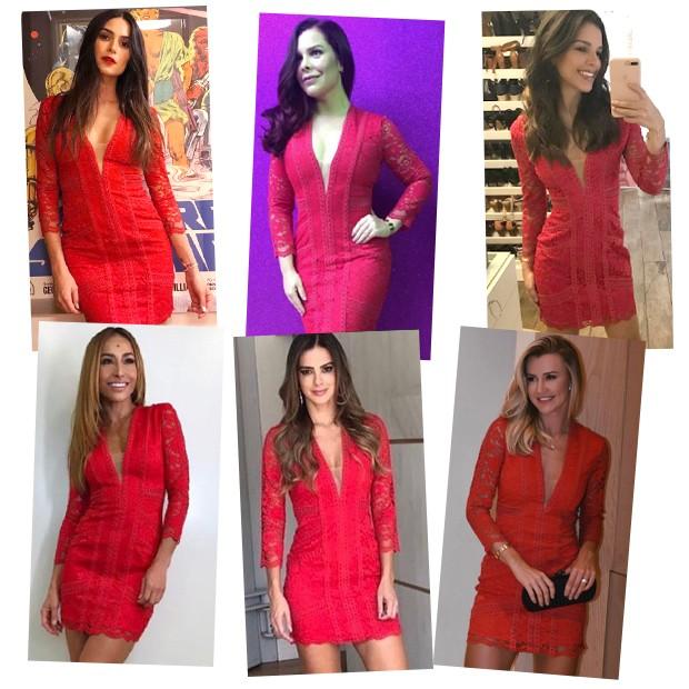 Thaila Ayala, Fernanda Souza, Mariana Rios, Sabrina Sato, Vera Viel e Ana Paula Siebert Justus (Foto: Reprodução/ Instagram)