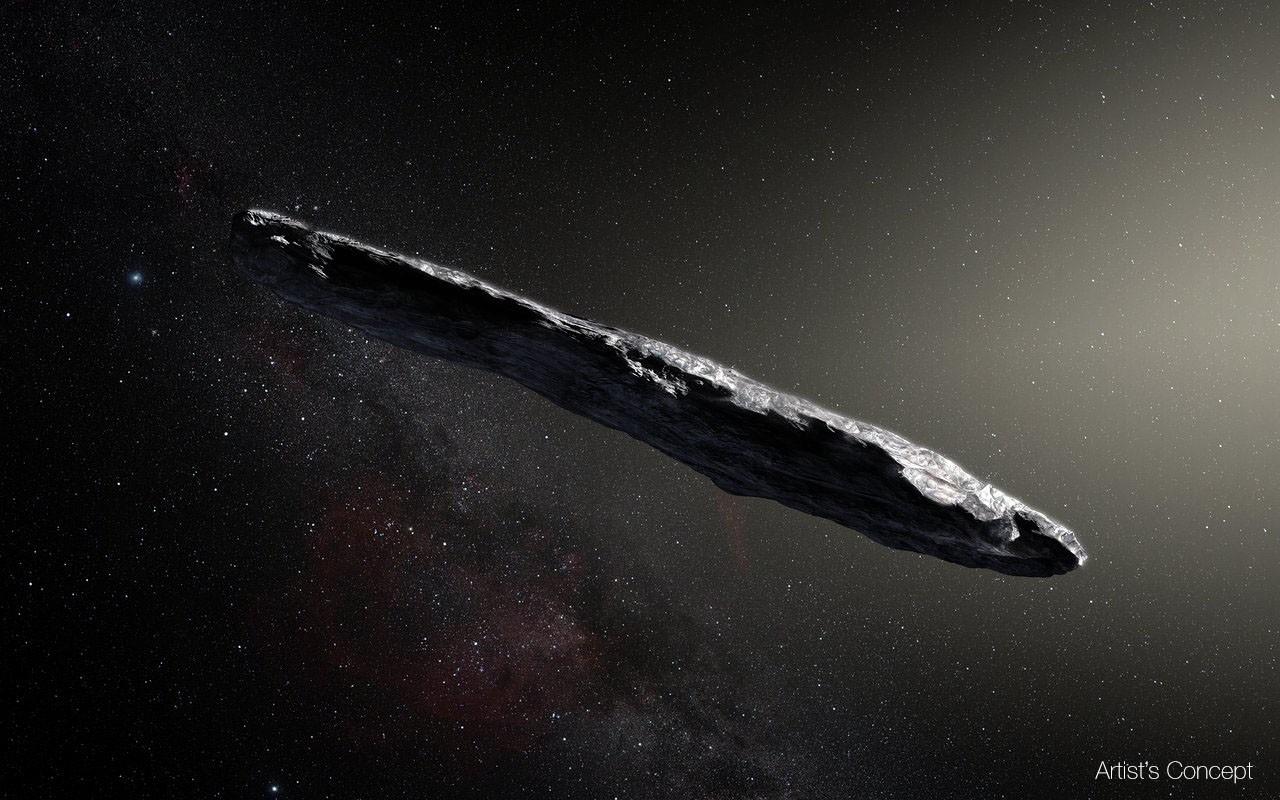 Reprodução do Oumuamua (Foto: Divulgação)