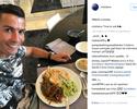 Craque em versão light: Cristiano Ronaldo encara pratão saudável no almoço