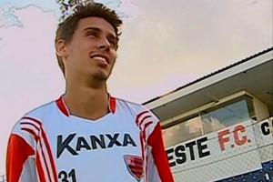 Rodrigo Dinamite, meia do Oeste, ex-Vasco (Foto: Reprodução / TV TEM)