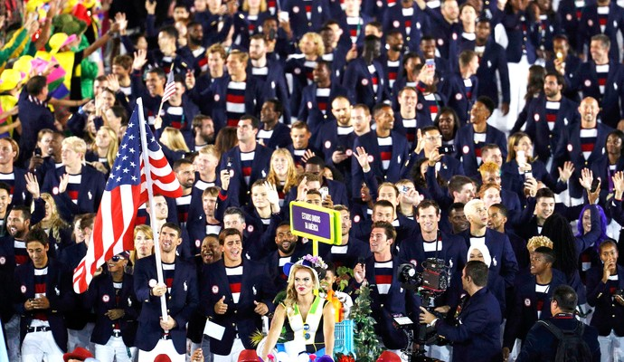 Estados Unidos Maracanã Abertura Olimpíadas Rio 2016 (Foto: Agência Reuters)