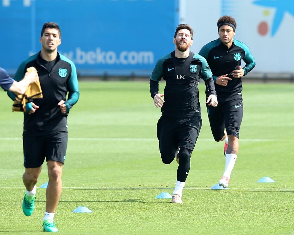 Suárez, Messi e Neymar são a esperança do Barça para uma nova