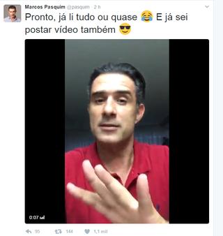 Marcos Pasquim estreia no Twitter (Foto: Reprodução/Twitter)