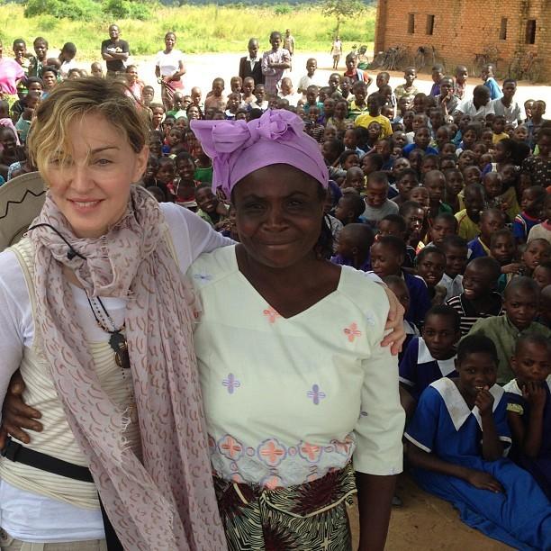 Madonna posta foto durante visita ao Malauí (Foto: Reprodução/ Instagram)
