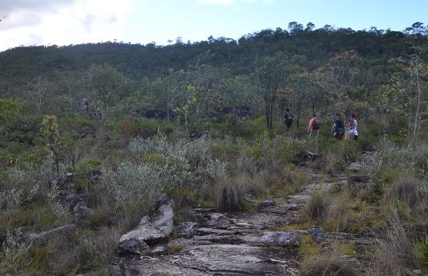 Parque Nacional da Chapada dos Veadeiros tem quatro opções de trilha, em Goiás (Foto: Vitor Santana/G1)