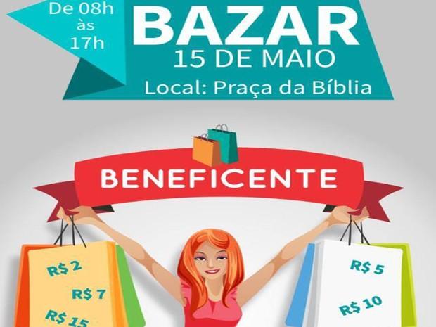 Bazar beneficente (Foto: G1)