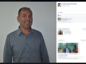 Joilson Lima (PV) disputou prefeitura de Camamu neste ano (Foto: Reprodução/ Facebook)