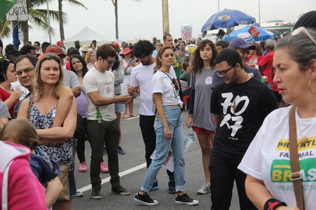 Sophie Charlotte, Daniel de Oliveira, Renato Góes e Maria Casadevall (Foto: Wallace Barbosa/AgNews)