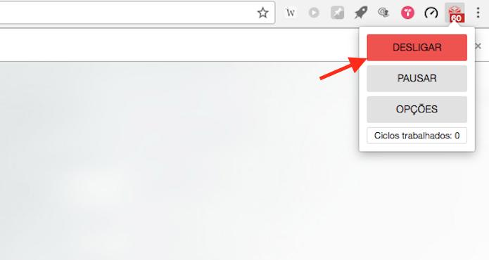 Opção para desativar o bloqueio de sites feito pela extensão Block & Focus para Google Chrome (Foto: Reprodução/Marvin Costa)