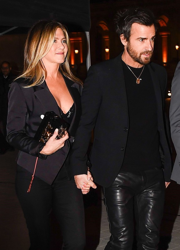 Justin Theroux e Jennifer Aniston (Foto: AKM-GSI)