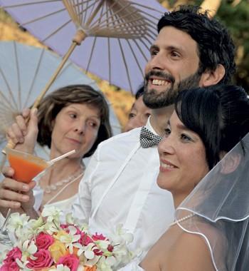 O casamento original foi do jeito que os noivos sonharam (Foto: Evelyn Müller)