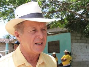 Prefeito de Joaquim Gomes Antônio de Araújo Barros, o Toinho Batista (Foto: Ailton Cruz/Gazeta de Alagoas)