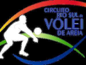 Logotipo oficial do Circuito Rio Sul de Vôlei de Areia Masculino (Foto: Arte/TV Rio Sul)
