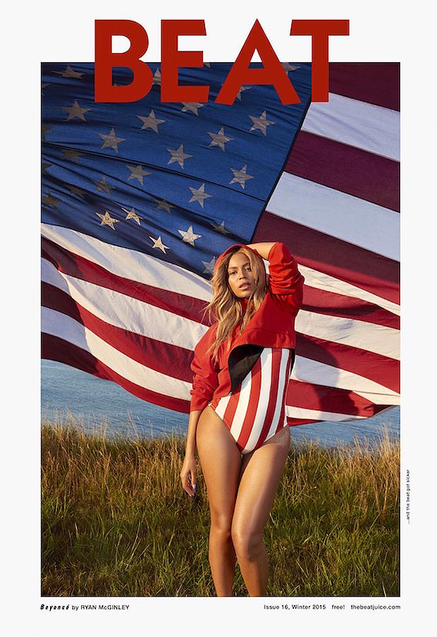 Beyoncé estampa patriotismo em capa de revista