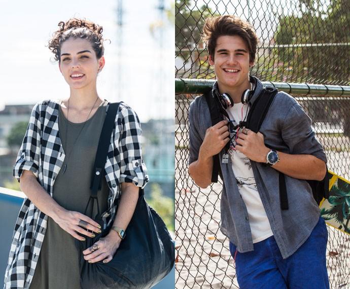 Julia Konrad e Nicolas Prattes falam sobre a aproximação de Ciça e Rodrigo (Foto: Fabiano Battaglin/Ellen Soares/Gshow)