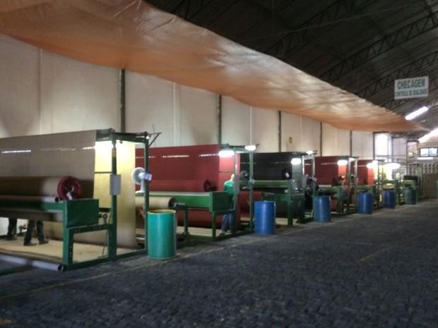 Sisal se transforma em produtos como tapetes, carpetes e capachos (Foto: Henrique Mendes / G1)
