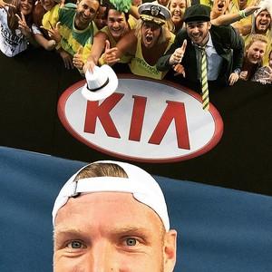 Sam Groth selfie no Aberto da Austrália (Foto: Reprodução / Twitter)