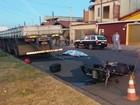Motociclista morre após batida com caminhão estacionado em Limeira
