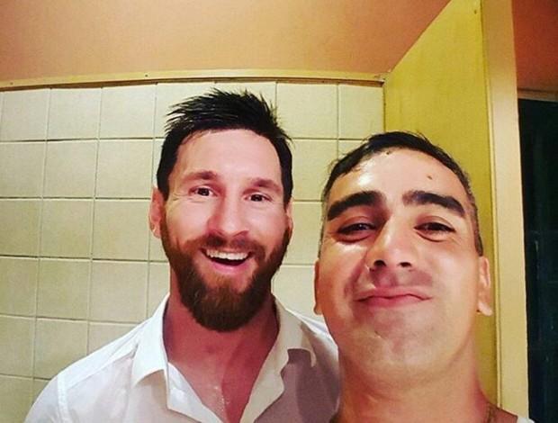 Messi de férias na Argentina