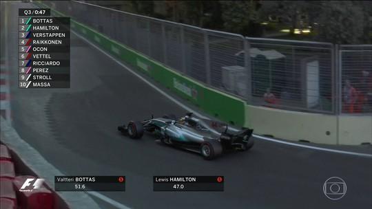 """Hamilton diz que foi para o """"tudo ou nada"""" na volta que garantiu pole em Baku"""