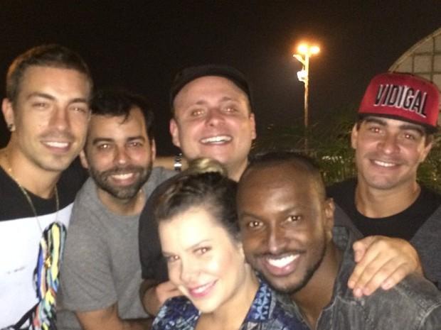 Di Ferrero, Léo Fuchs, Fernanda Souza, Thiaguinho e Thiago Martins em festa no Rio (Foto: Instagram/ Reprodução)