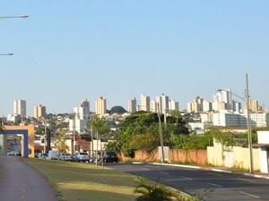 Vista da Orla Morena em Campo Grande MS na tarde deste sábado (18) (Foto: Fernando da Mata/G1 MS)