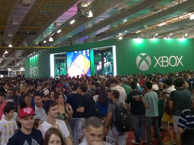 Brasil Game Show estava lotada de visitantes neste final de semana (Foto: Gustavo Petró/G1)