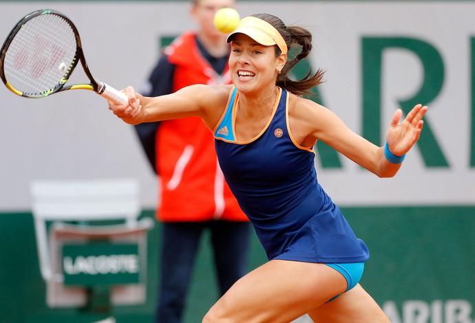 Ana Ivanovic tênis em Roland Garros (Foto: AP)