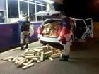 Após perseguição, PRF apreende 1 t de maconha em carro roubado