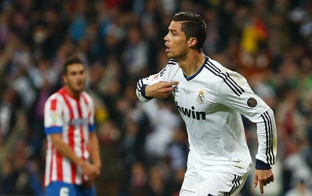 Cristiano Ronaldo comemora gol Real Madrid Atletico de Madri (Foto: AP)