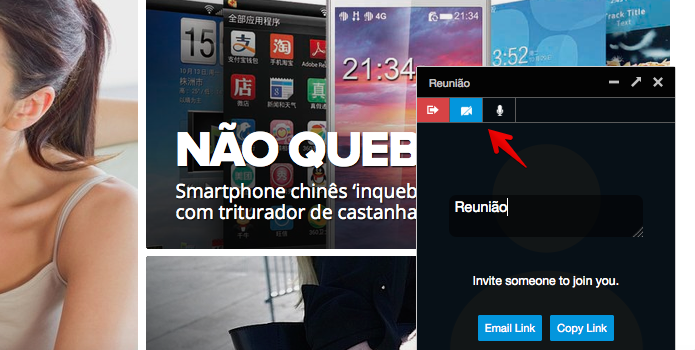 Usuário pode escolher se quer fazer chamada de áudio ou vídeo (Foto: Reprodução/Helito Bijora)