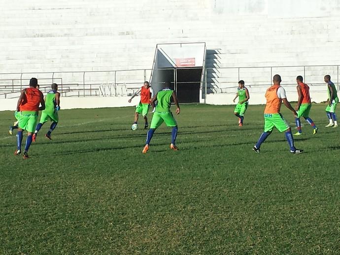 Salgueiro treinar para enfrentar o Asa pela Série C (Foto: Jadir Sousa / TV Grande Rio)