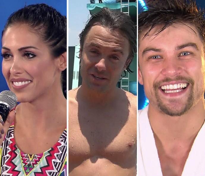 Bella Falconi, Kayky Brito e Raphael Sander voltaram para a competição do Caldeirão  (Foto: TV Globo)