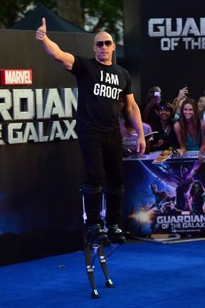 Vin Diesel em première de filme em Londres, na Inglaterra (Foto: Carl Court/ AFP)