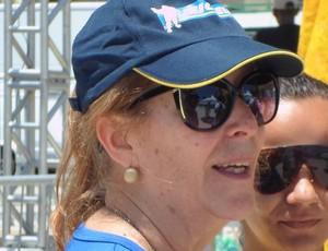 "nena gonzalez, coordenadora do projeto ""praia para todos"" (Foto: Luan Sanchez)"