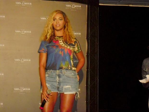 Beyoncé faz primeira aparição no Brasil (Foto: Gabriela Alves/G1)