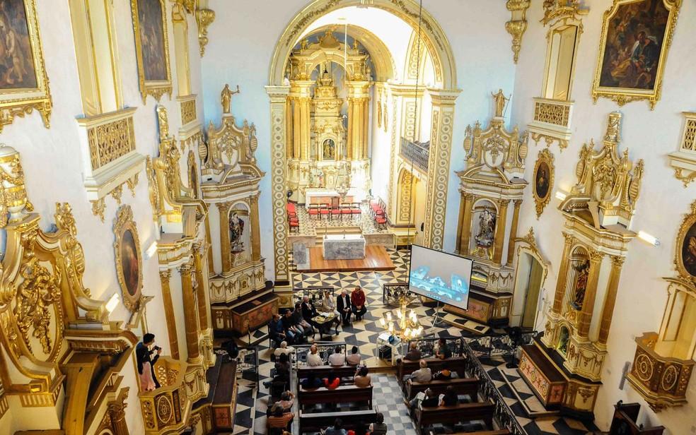 Imagem da igreja de Sant'Ana do alto (Foto: Sidney/Divulgação)