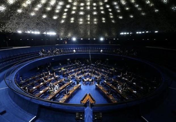 Visão geral do Senado, durante sessão em Brasília (Foto: Adriano Machado/Reuters)