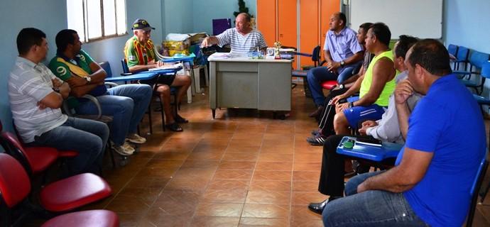 Reunião Federação Roraimense de Futebol (Foto: Nailson Wapichana)