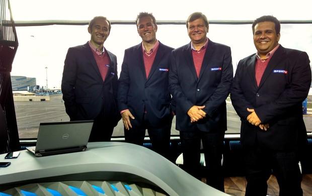 Marcelo Barreto, Roby Porto, Sérgio Maurício e Daniel Pereira (Foto: Divulgação / SporTV)