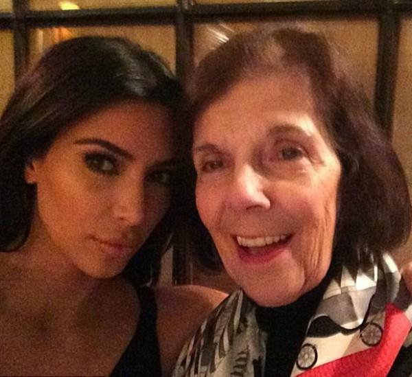 Kim ao lado da avó, Mary Jo Shannon (Foto: Reprodução/Instagram)
