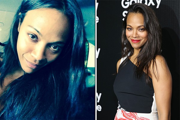 Zoe Saldana (Foto: Twitter e Getty Images)