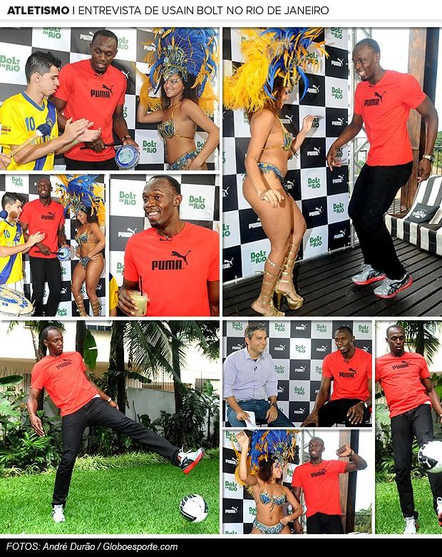 Galeria Bolt entrevista Esporte Espetacular Rio de Janeiro (Foto: André Durão / Globoesporte.com)