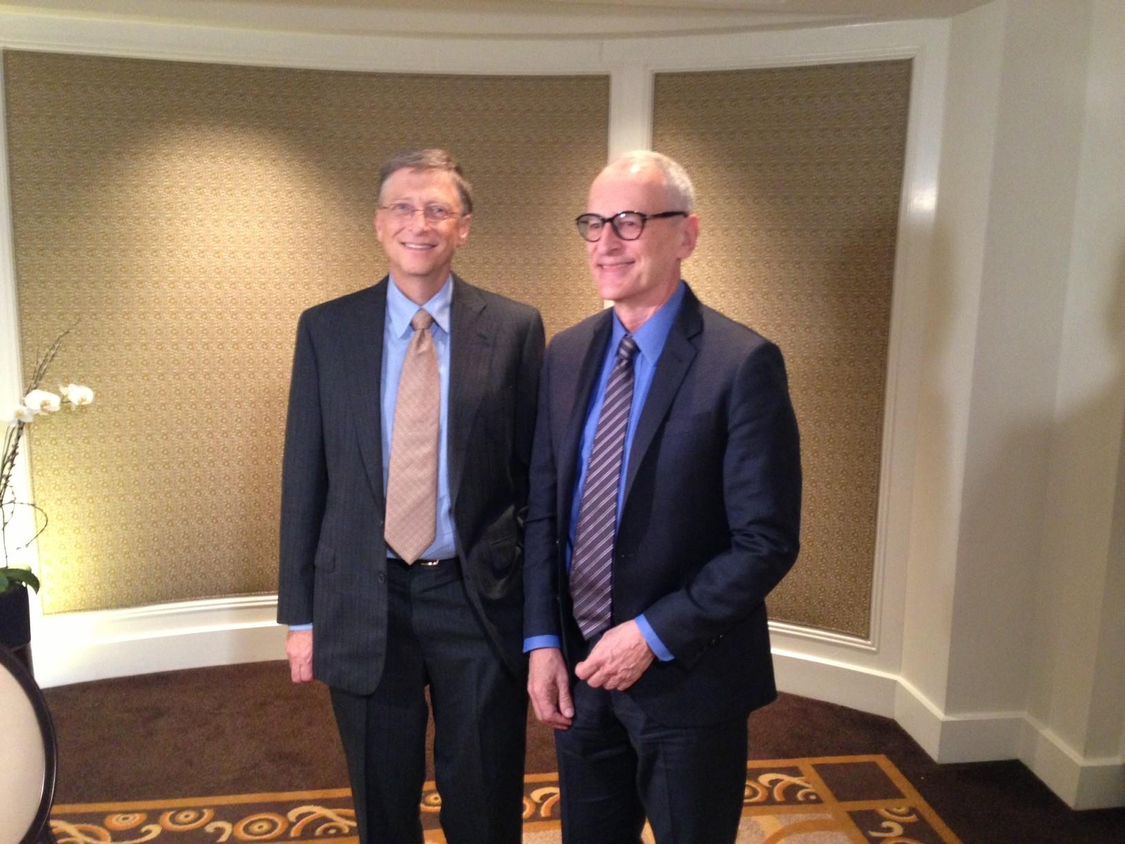 O repórter Jorge Pontual entrevista Bill Gates no 'Globo News Especial' (Foto: Divulgação/Globo News )
