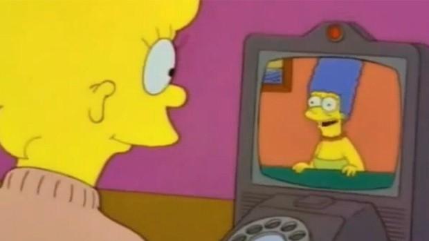 Os Simpsons previram as chamadas de vídeo (Foto: Reprodução)